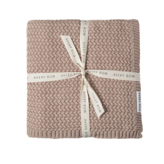 Couverture Coton Rose Blush Avery Row